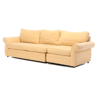 Pottery Barn Upholstered Two-Piece Sectional Sofa