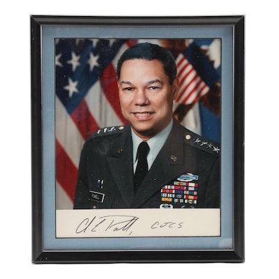 Colin Powell United States Army Joint Chiefs of Staff Signed Photo Print, 1990