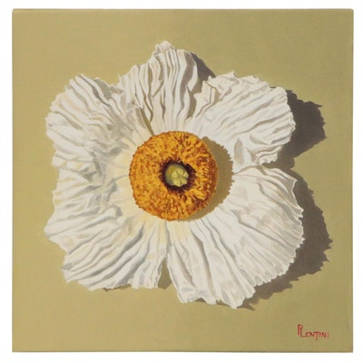 "Peter Lentini Oil Painting ""Linenfold"""