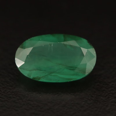 Loose 3.68 CT Oval Faceted Emerald with GIA Report