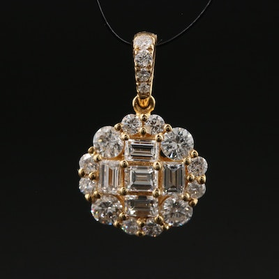 18K 1.00 CTW Diamond Pendant