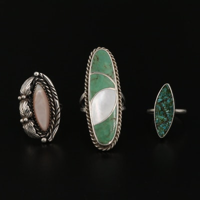 Southwestern Style Rings Featuring Norman Lee Navajo Diné
