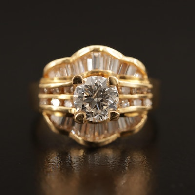 18K 1.47 CTW Diamond Ring
