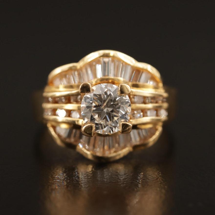 18K 1.47 CTW Diamond Ring