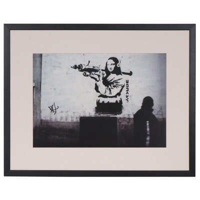 Mona Lisa with Rocket Launcher Offset Lithograph after Banksy