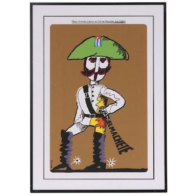 """El Machete"" Serigraph Animated Short Poster after Eduardo Muñoz Bachs"