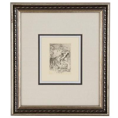 """Pierre-Auguste Renoir Restrike Etching """"Le Chapeau Épinglé"""""""