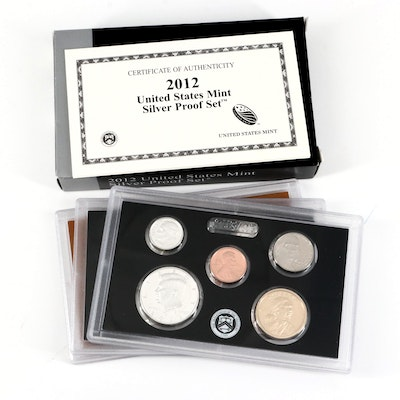 Key Date 2012 U.S. Mint Silver Proof Set