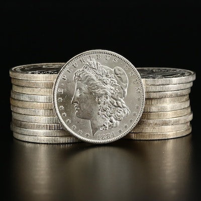 Roll of Twenty Uncirculated New Orleans Mint Morgan Silver Dollars
