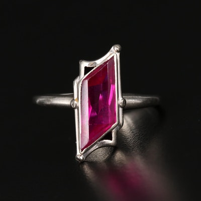 Retro 10K Gold Ruby Ring