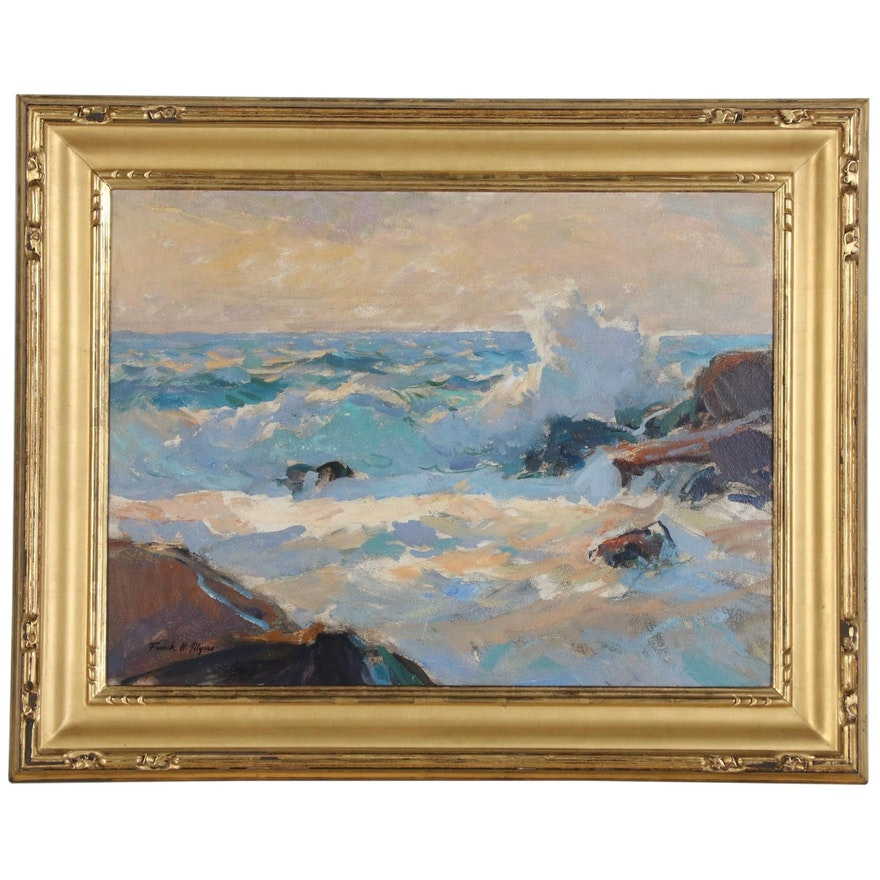 """Frank Harmon Myers Oil Painting """"Light from the West"""", Early-Mid 20th Century"""