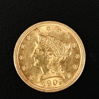 1903 Liberty Head $2.50 Gold Quarter Eagle