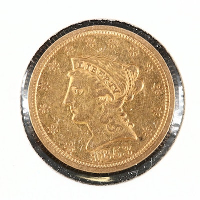 1853 Liberty Head $2.50 Gold Quarter Eagle