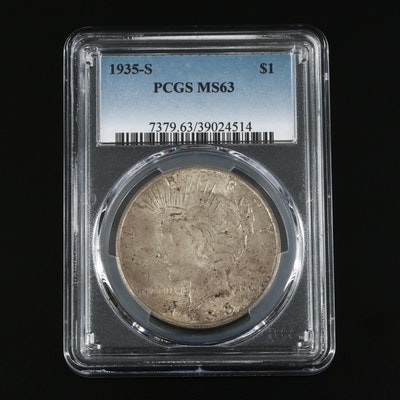 PCGS Graded MS63 1935-S Silver Peace Dollar