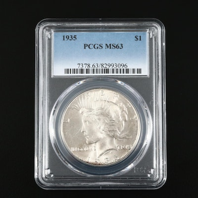 PCGS Graded MS63 1935 Silver Peace Dollar