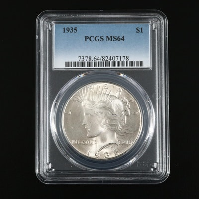 PCGS Graded MS64 1935 Silver Peace Dollar