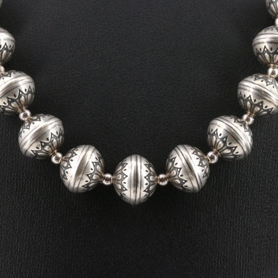 Sterling Silver Motif Necklace