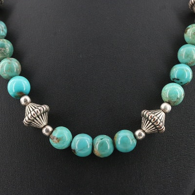 Western Style Turquoise Necklace