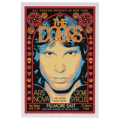 "David Edward Byrd Giclée ""The Doors - Debut - Fillmore East - 1968"", 2020"
