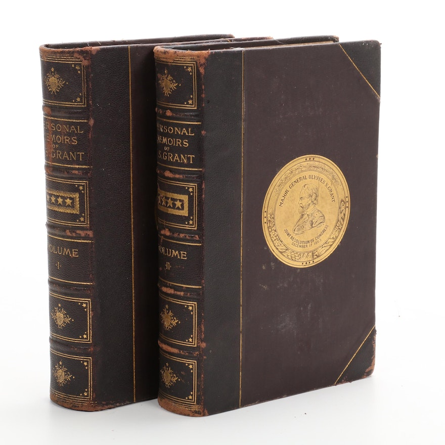 """1885 """"Personal Memoirs"""" by Ulysses S. Grant, Two Volumes"""