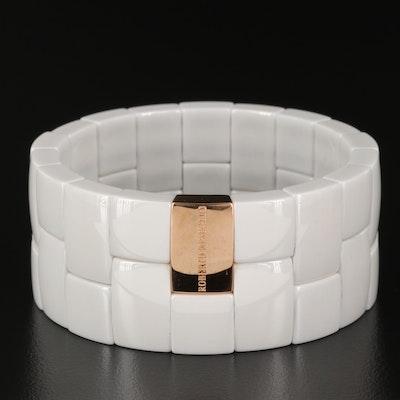 """Roberto Demeglio """"Diva"""" 18K Ceramic Cobblestone Bracelet"""
