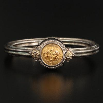 Tagliamonte Sterling Medusa Bracelet