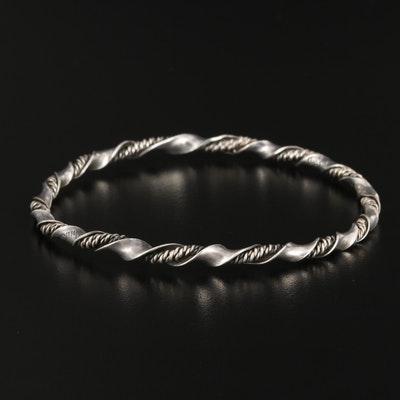 Mexican Sterling Silver Bangle Bracelet
