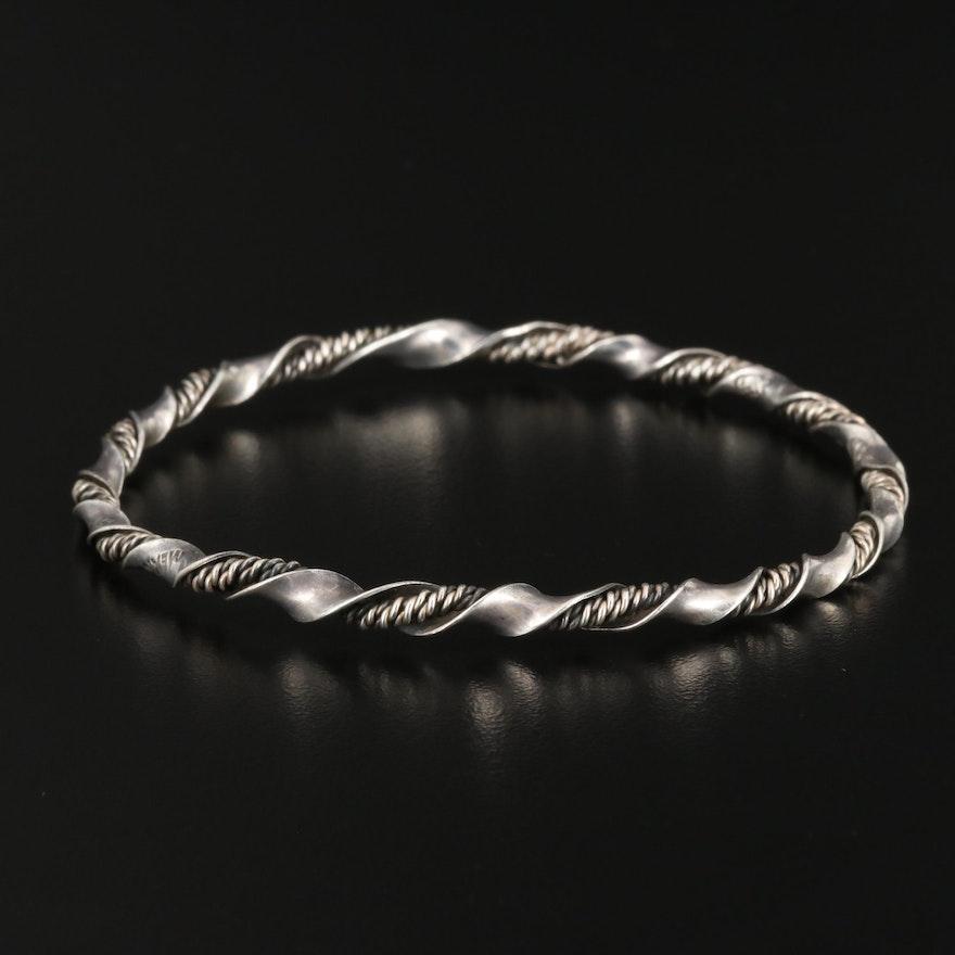 Mexican Sterling Silver Bangle Bracelet