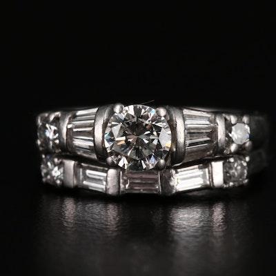 Platinum 1.09 CTW Diamond Ring