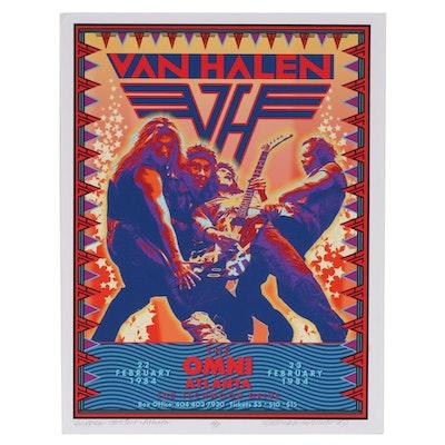 "David Edward Byrd Giclée ""Van Halen at the Omni, Atlanta 1984"", 2020"