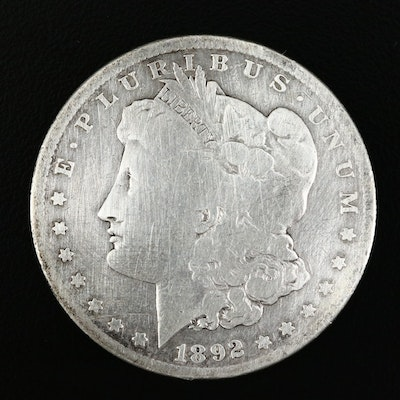 Better Date Low Mintage 1892-S Morgan Silver Dollar