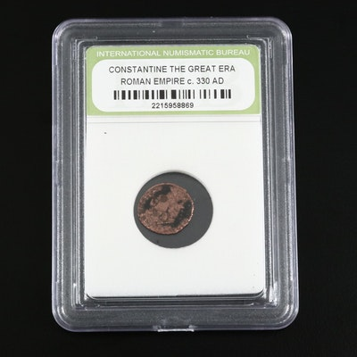 "An Ancient Roman Imperial Constantine ""The Great"" Bronze Coin Ca. 330 A.D."