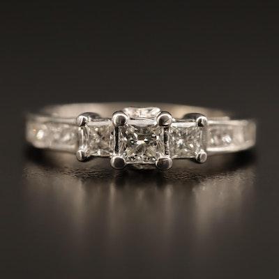 14K Gold 1.02 CTW Diamond Ring