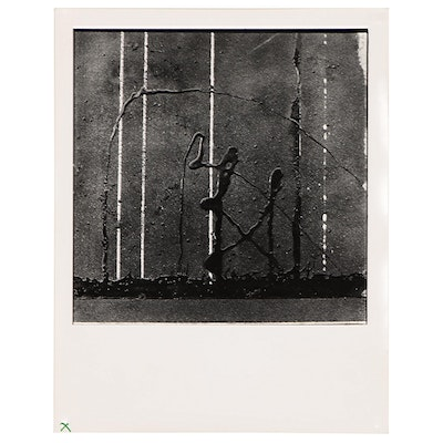 """Don Jim Silver Gelatin Print from Serires """"Warriors (Abstract Tar Drippings)"""""""
