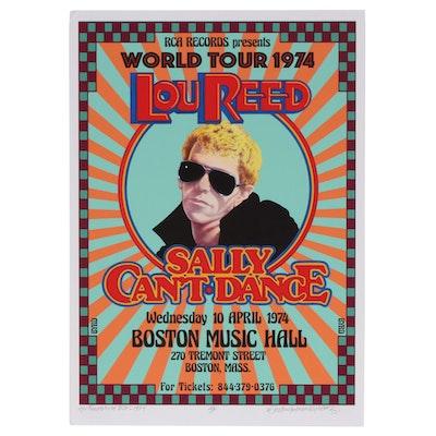 """David Edward Byrd Giclée """"Lou Reed World Tour 1974"""", 2020"""