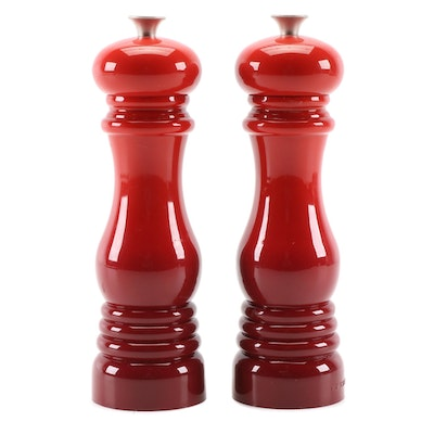 "Le Creuset ""Cerise"" Salt and Pepper Mills"
