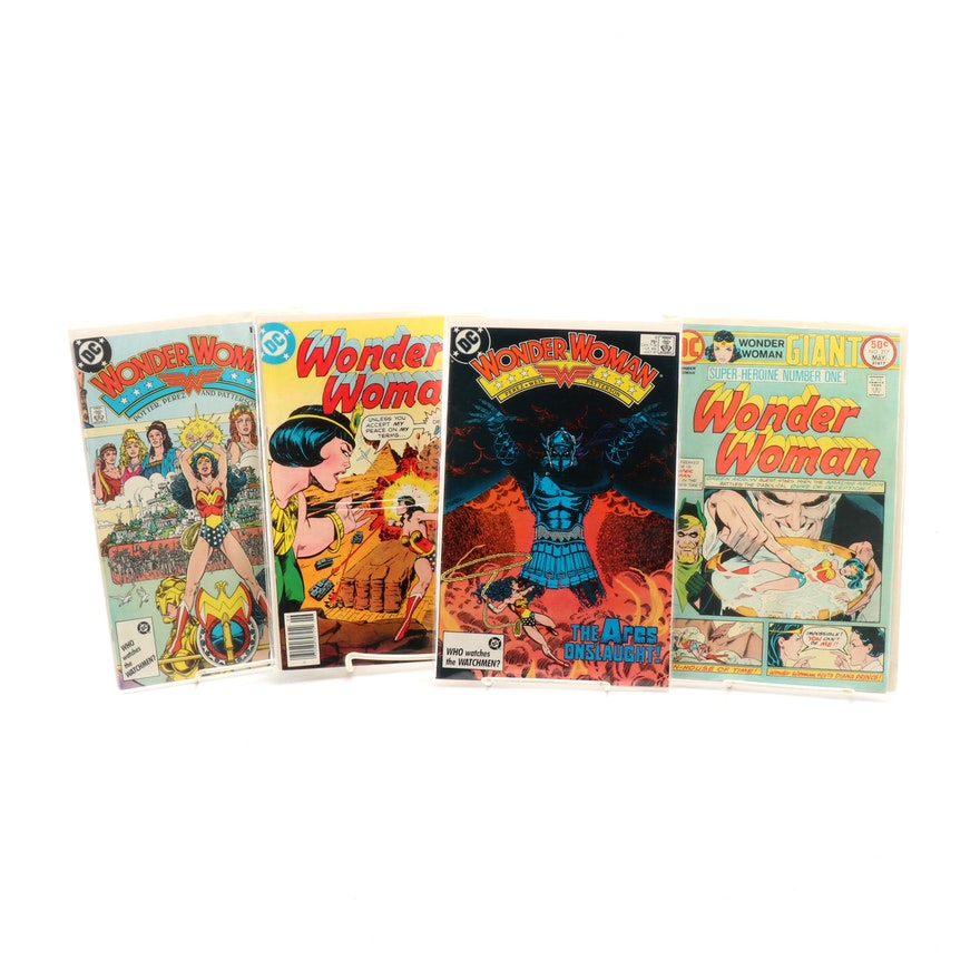 """""""Wonder Woman"""" Comic Books Including George Perez Signed """"The Ares Onslaught!"""""""