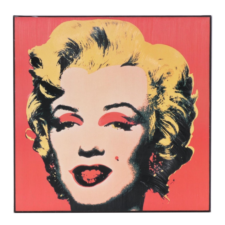 Embellished Offset Lithograph after Andy Warhol