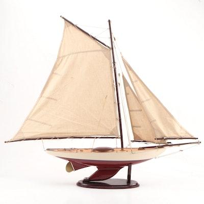 Wooden Sailboat Model