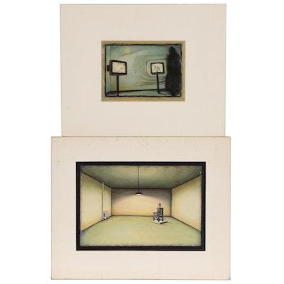 Blair Gibeau Mixed Media Paintings of Interiors