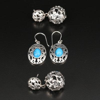 Sterling Silver Magnesite Earrings
