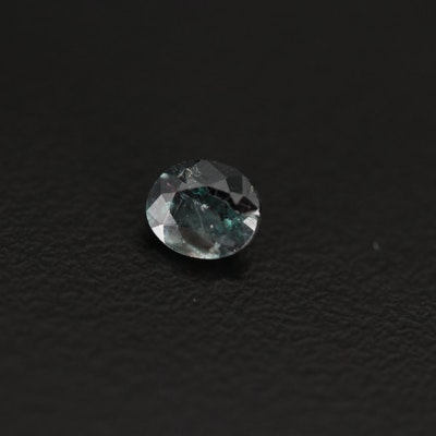 Loose 0.73 CT Oval Faceted Alexandrite