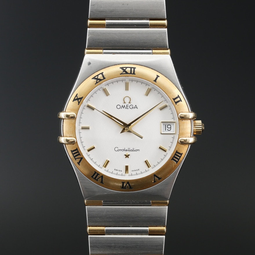 Omega Constellation 18K and Stainless Steel Quartz Wristwatch