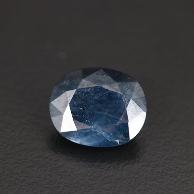 Loose 7.17 CT Oval Faceted Sapphire