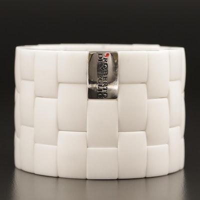 Roberto Demeglio 18K Diamond and Ceramic Flexible Bracelet