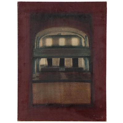 Blair Gibeau Abstract Architectural Mixed Media Painting