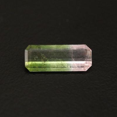 Loose 0.96 CT Bi-Color Tourmaline