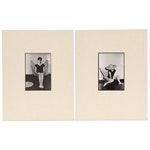 Blair Gibeau Black and White Photographs of Woman in Butterfly Chair