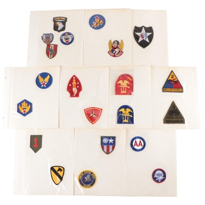 U.S. Military Sleeve Unit/Division Uniform Patches, Mid to Late 20th Century