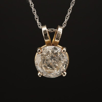 14K 1.67 CT Diamond Pendant Necklace